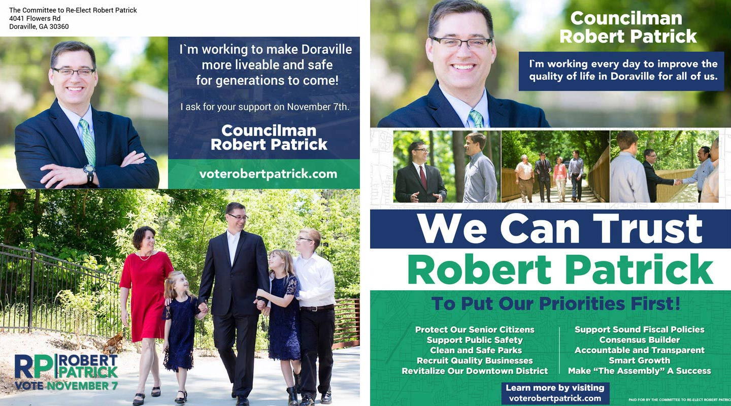 Memorable Mailers Robert Patrick Councilman