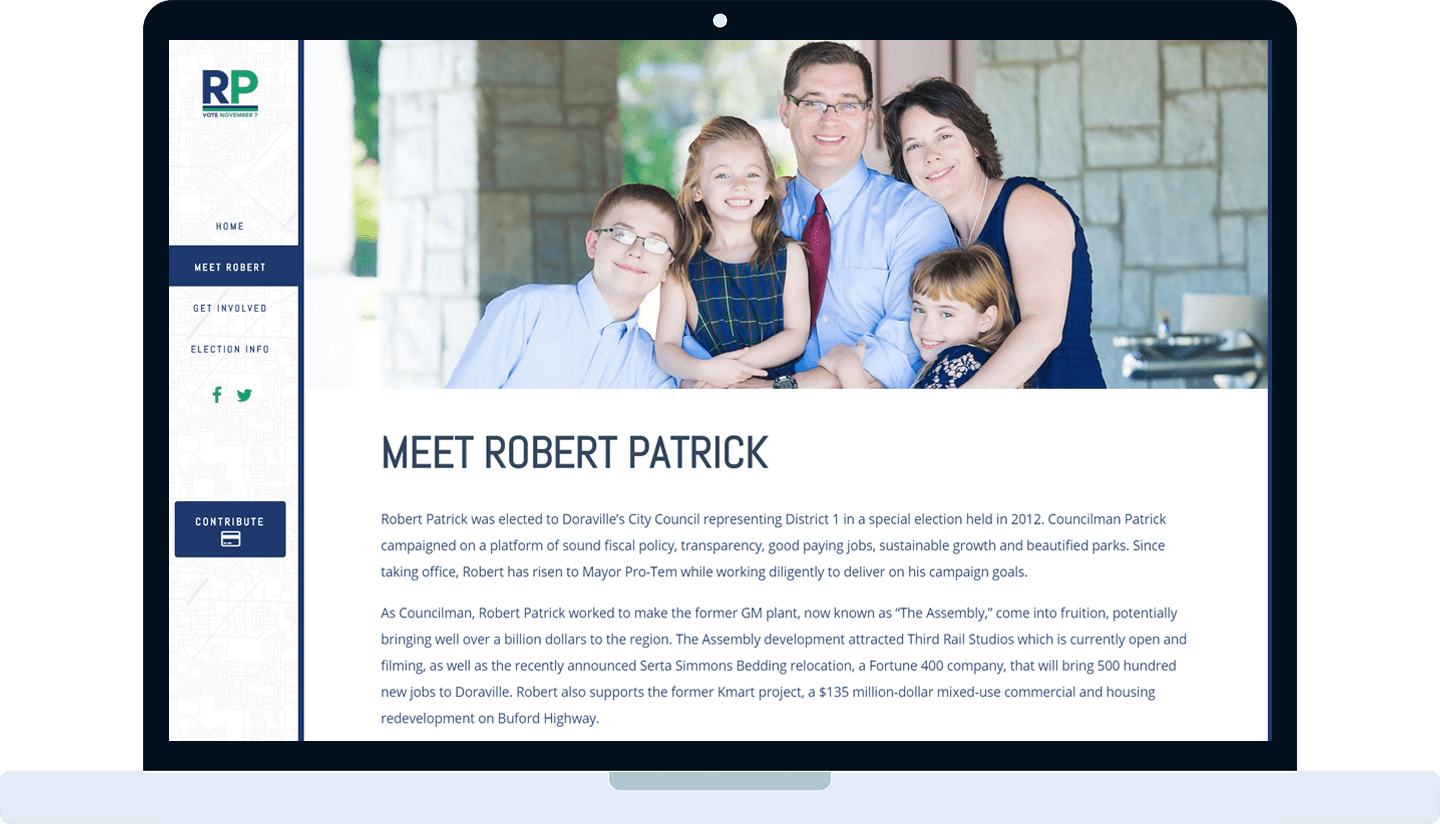 Vote Robert Patrick website